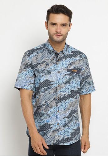 Poshboy blue Poshboy Shirt Bharata SB-7KW-XCM 92962AAC49427FGS_1