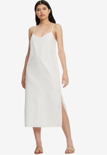 St MRLO white Palawan Midi Dress D9188AA575913BGS_1
