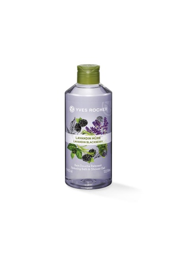 Yves Rocher purple Relaxing Lavandin Blackberry Bath Shower Gel 400ml YV460BE14ODHSG_1