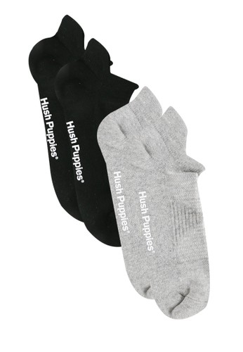 Hush Puppies black and grey Classic Ankle Socks 7C20CAA44C9AF6GS_1