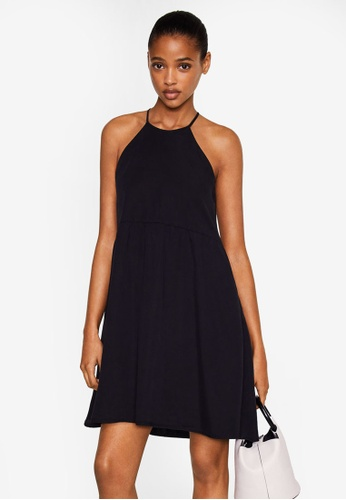 Mango black Halter Neck Soft Dress 4F8FDAA9F491C5GS_1