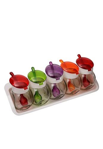 Herevin Herevin 5 Pcs Spice Jar Set / Condiment Set / Spices Container Set / Salt and Pepper / Table Condiment Set5 Pcs Spice Jar Set / Condiment Set / Spices Container Set / Salt and Pepper / Table Condiment Set 165DDHL422F91FGS_1