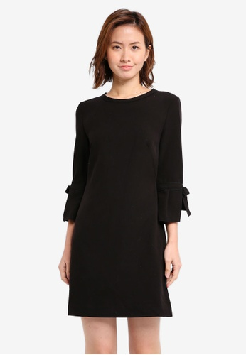 Mango black Pleated Sleeve Dress MA193AA0T0X7MY_1