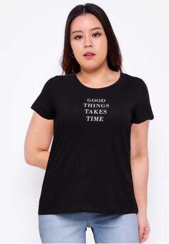Vero Moda black Plus Size Darren T-Shirt 00D5AAAEE0DEB9GS_1