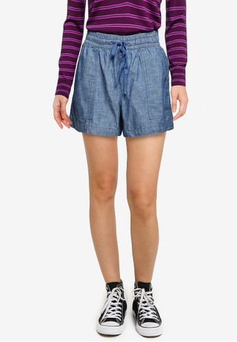 Gap blue V-pull On Utility Chambray Shorts 0AC29AAE26D492GS_1