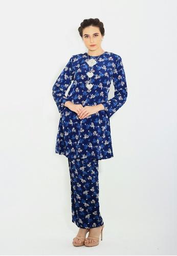 Adam.R blue Kurung Mayra 7D5CBAAEE2BB4CGS_1