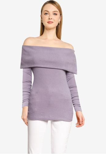 Free People 紫色 Snowbunny Long Sleeve Top EC160AA70E14FCGS_1