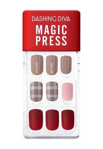 Dashing Diva red Dashing Diva 1 SEC. MAGIC PRESS Manicure Herringbone Coat / Press on Nails /Nail Tips C741EBE9CE00BDGS_1