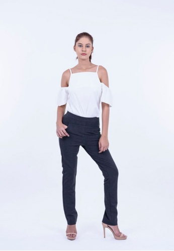 Ladies Jeans black Stretch Trousers With Designing Pocket 41449AA4AD3385GS_1