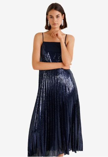 Mango blue Sequined Gown B8C83AA8067191GS_1