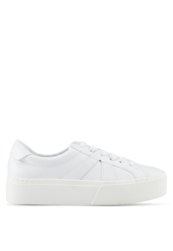 Mango white Platform Lace-Up Sneakers 728F4SH842CF4BGS_1