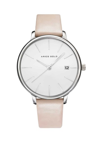 Aries Gold pink Aries Gold Enchant Fleur L 5035 Silver, Pink and White Watch A1296AC93E77ECGS_1