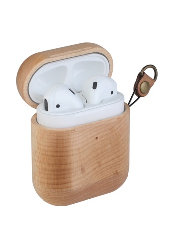 Kings Collection brown Maple Wood AirPods Case (KCW2115) A8C76ACA35E45DGS_1