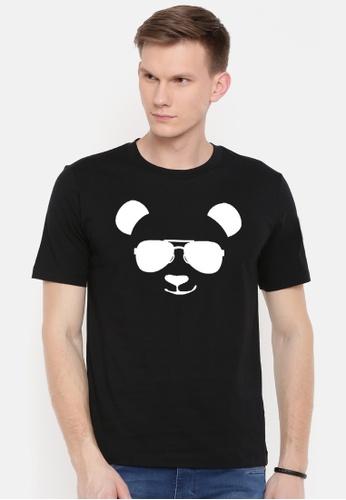 Greatvalueplus black Panda Cool Black Men's Round Neck Statement T-Shirt 1D106AA94D9630GS_1