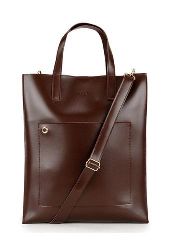Peeps brown Striking Tote Bag 79EBAAC312AC08GS_1