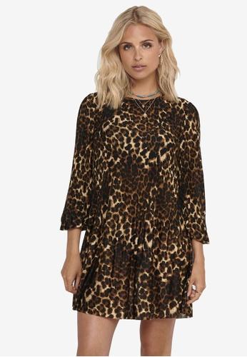 JACQUELINE DE YONG black Boa Plisse Dress 3AC9CAA3FD2721GS_1