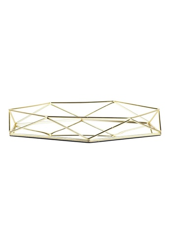 Propstation Gold Geometry Decorative Pallet Mirrored Glass Tray A053AHL93E59ACGS_1