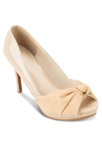 魚口蝴esprit童裝門市蝶結高跟鞋, 女鞋, 鞋