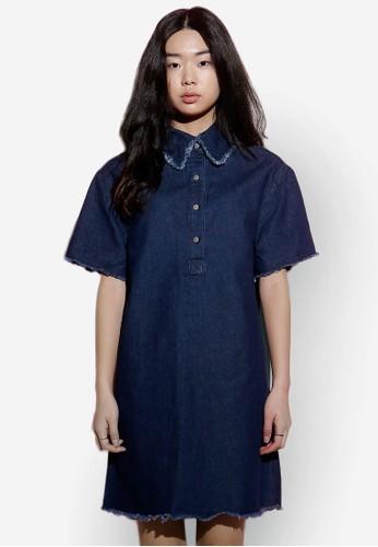 丹寧標準領連身裙, 服飾esprit品牌介绍, 洋裝