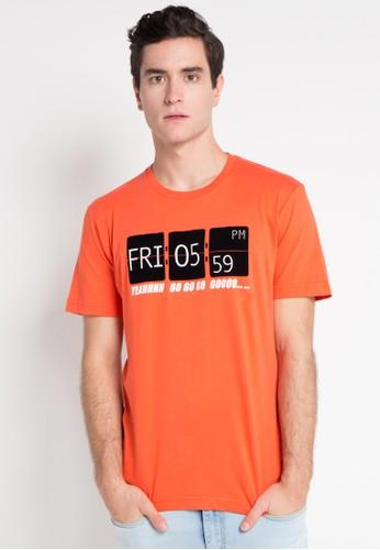 "Bossini orange C/N Prt T (21"" Chest) BO894AA0WSNEID_1"