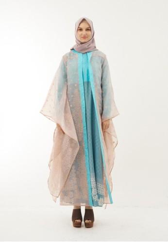 Anggiasari Mawardi blue Kalea Organza Batik Dress D6D39AA4D60F4BGS_1