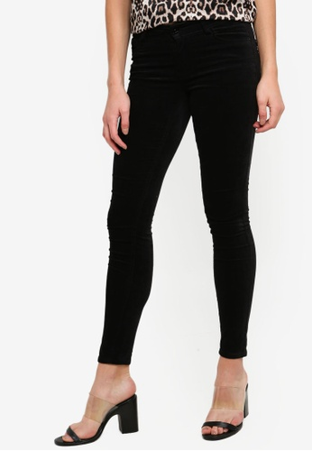 JACQUELINE DE YONG black Fandi Skinny Raw Pants 7CD3FAA278F444GS_1