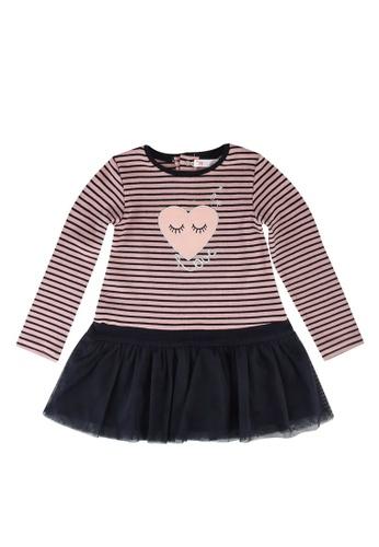 Babybol navy Stripe Dress D0D15KABCAF26BGS_1