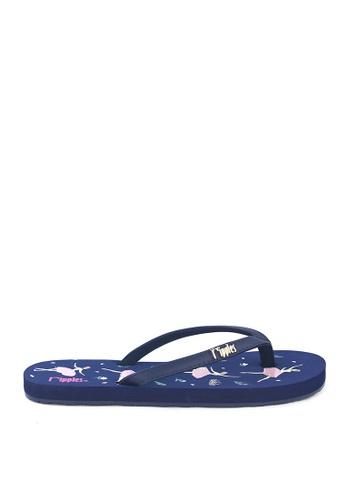 Ripples blue Ballerina Flip Flops EE319SH6B81508GS_1