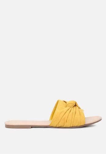 London Rag 黃色 平底拖鞋 45F5BSHC79293AGS_1
