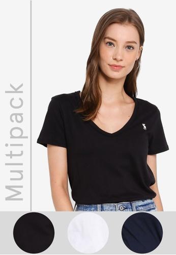 Abercrombie & Fitch multi Multipack V-Neck Tees 5769FAA117E42CGS_1