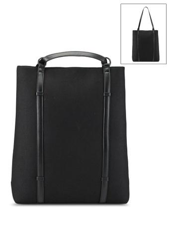 ZALORA black Contemporary Canvas Backpack FA32EAC82893E7GS_1