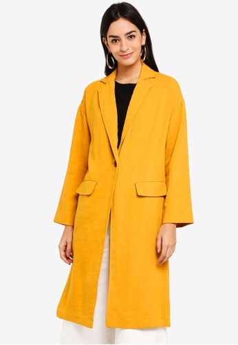 TOPSHOP yellow Lightweight Duster Coat 09501AAE5AB13AGS_1