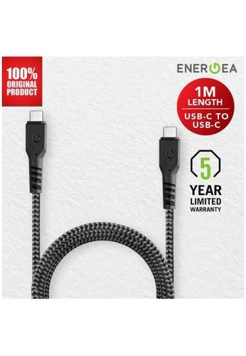 Energea black Energea Fibratough 3.1 USB Cable 5A 10GBPS C to C 1.0m Black 17A54ES7F0E390GS_1