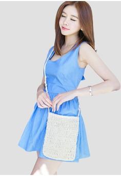 韓風時裝 无袖的夏天礼服 G1099