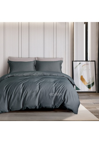 Epitex grey Epitex CD2539-2 1000TC Supima Black Cotton Collection Dobby (Fitted Sheet, w/o quilt cover). 512E8HL4EC2204GS_1
