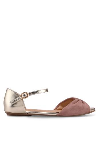 Carlton London beige Two Tone Sandals BEA92SHE3A627EGS_1
