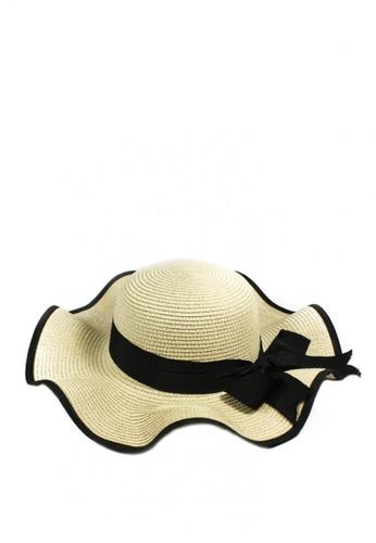 963d797957db5 Shop HEY SWEETY Straw Beach Floppy Hat Online on ZALORA Philippines