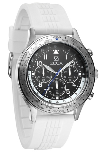 ZECA black and white and yellow and silver Genoa Edition Male Analogue ZE260AC07SKASG_1