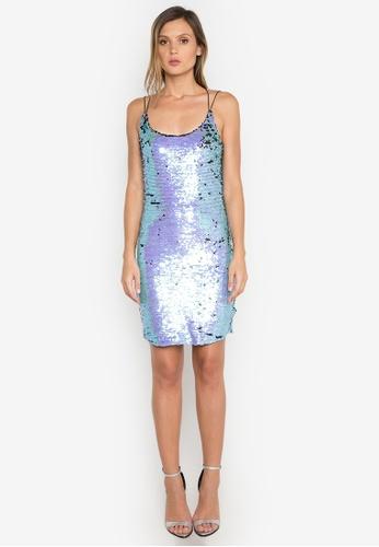 NOBASIC blue Leia Sequins Slip Dress NO444AA0FQHHSG_1