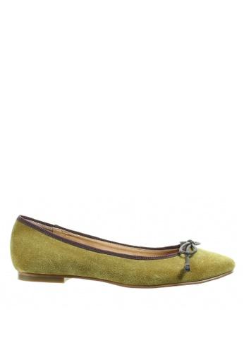 PRODUIT PARFAIT 綠色 麖皮平底鞋 86F62SH18114FFGS_1