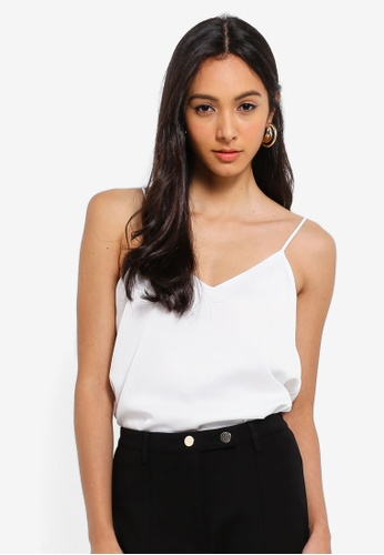 River Island white Kaitlyn Strappy Cami Top 29EF5AA7A624BBGS_1