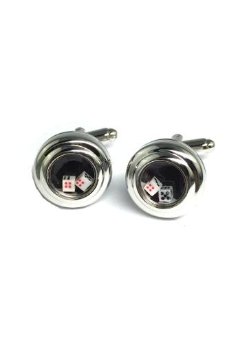 Splice Cufflinks silver Sic Bo Cufflinks SP744AC77ILYSG_1