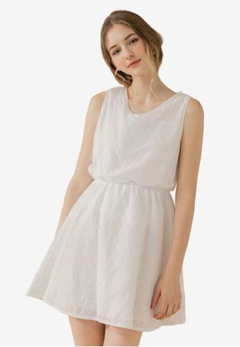 Eyescream white Eyelet Lace Dress 08CB6AAC9D3E4CGS_1