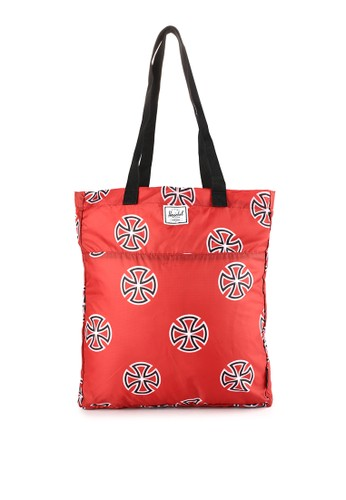 Herschel red and multi Packable Tote-Independent 829EAACD2A62E1GS_1