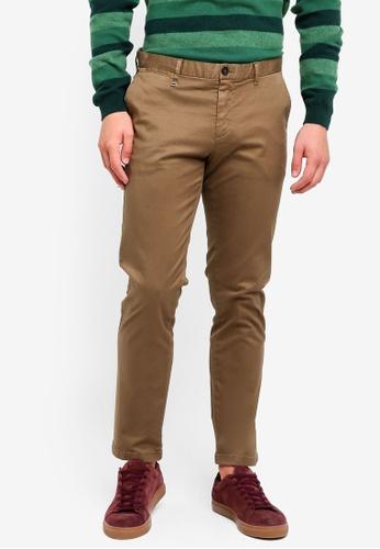Sisley 綠色 基本款彈力斜纹長褲 30DE2AA076597BGS_1