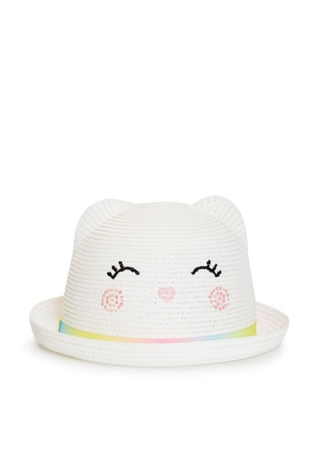 LC Waikiki white Straw Fedora Hat 80FFFKC5495EE4GS_1