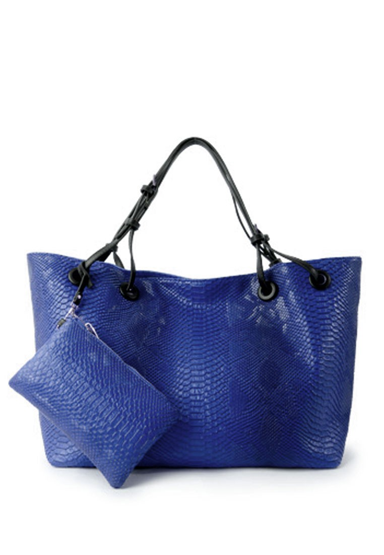Faux Croc Oversized Tote