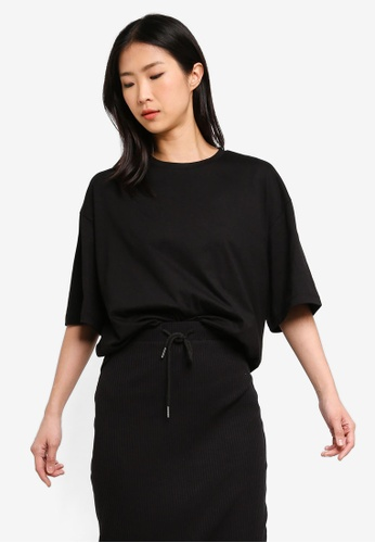 ZALORA BASICS black Basic Oversized T-Shirt 59CF6AA0CD9259GS_1