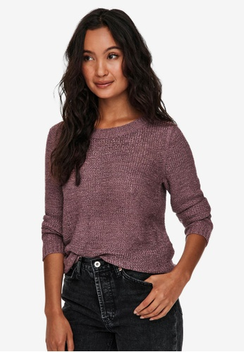 ONLY purple Geena Long Sleeve Pullover 1BB02AACA98BB3GS_1
