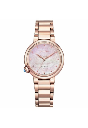 Citizen gold CITIZEN EM0912-84Y ECO-DRIVE PINK MOTHER OF PEARL STAINLESS ROSE GOLD  WOMEN'S WATCH 3DB62AC6552204GS_1